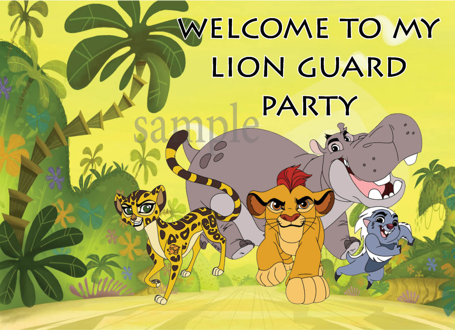 The Lion Guard Party